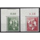 Mi. Nr. 153/154 Eckrand links oben 153 mit Zierleiste