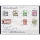 Letterset zentrisch gestempelt mit gerader Nummer auf portogerechtem Wertbrief