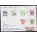 Letterset kompletter Satz zentrisch gestempelt auf portogerechtem Wertbrief