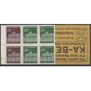 Markenheftchen 14 a mit kopfstehendem Innendruck und Heftchenblatt 18 von MH 13c