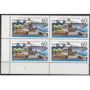 Mi. Nr. 1583x im Eckrandviererblock links unten mit Formnummer 1