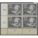 Mi. Nr. 245 Eckrandviererblock links unten mit Druckvermerk DV postfrisch
