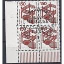 Mi. Nr. 411 im Eckrandviererblock links unten mit Ersttagssonderstempel (Esst)