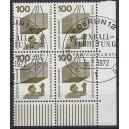 Mi. Nr. 410 im Eckrandviererblock rechts unten mit Ersttagssonderstempel (Esst)