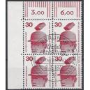 Mi. Nr. 406 im Eckrandviererblock links oben mit Ersttagssonderstempel (Esst)