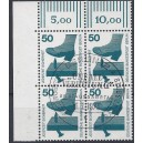 Mi. Nr. 408 im Eckrandviererblock links oben mit Ersttagssonderstempel (Esst)