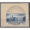 Mi. Nr. 46I  perfekt zentrisch mit dem passenden Ersttagssonderstempel entwertet gauf kleinem Briefstück Kurzbefund Schlegel