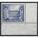 Mi. Nr. 60 Eckrand rechts unten postfrisch mit Plattennummer 1