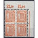 Mi. Nr. 50 im Eckrandviererblock rechts oben postfrisch