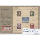 Block 3 B  Luxus gestempelt auf portogerechtem Brief