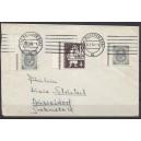 Mi. Nr. 127 Eckrand links oben gestempelt auf portogerechtem Brief