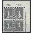 Mi. Nr. 226v Eckrandviererblock rechts oben postfrisch