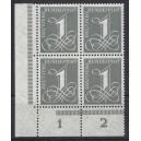 Mi. Nr. 226v Eckrandviererblock linkts unten postfrisch