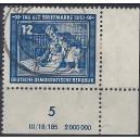 Mi. Nr. 295 DV Eckrand rechts unten mit Vollstempel