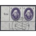 Mi. Nr. 263 Eckrandpaar links unten gestempelt mit Druckerzeichen DZ