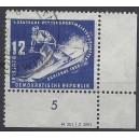 Mi. Nr. 274 Eckrand rechts unten zentrisch gestempelt mit Druckvermerk DV
