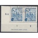 Mi. Nr. 307 Eckrand links unten mit Druckerzeichen bedarfsgestempelt