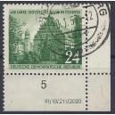 Mi. Nr. 318 II Eckrand rechts unten mit Druckvermerk bedarfsgestempelt und Retusche des Plattenfehlers