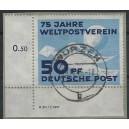 Mi. Nr. 242 DV Eckrand links unten gestempelt auf Briefstück
