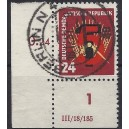 Mi. Nr. 293 Eckrand links unten mit Druckerzeichen bedarfsgestempelt