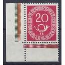 Mi. Nr. 130 im Eckrand links unten aus Markenheftchenbogen postfrisch