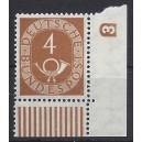Mi. Nr. 124 Eckrand rechts unten mit Druckerzeichen negativ 3