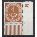 Mi. Nr. 124 Eckrand rechts unten mit Druckerzeichen negativ 2