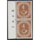 Mi. Nr. 124 Paar vom linken Rand mit Bogenlaufnummer postfrisch