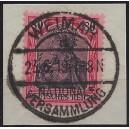 Rarität!! Mi. Nr. 93 IIa  in seltener Farbe! Zentrisch Luxus gestempelt auf Briefstück!!