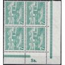 Mi. Nr. 121 Eckrandviererblock rechts unten, bzw. links unten postfrisch mit Drueckerzeichen Sa.