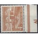 Mi. Nr. 112 mit Unterrand postfrisch mit Druckerzeichen Al