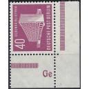 Mi. Nr. 122 Eckrand rechts unten, bzw. links untenpostfrisch mit Druckerzeichen Ge