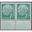 181w postfrisches Unterrandpaar mit Klischeeübergang