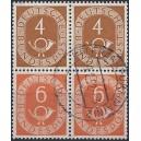 Mi. Nr 124 + 126 im waagerechten Paar S 1