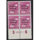 Mi. Nr. 193 Hausauftragsnummer (HAN) im Viererblock postfrisch