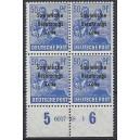 Mi. Nr. 194 Hausauftragsnummer (HAN) im Viererblock postfrisch
