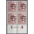 Mi. Nr. A195 Hausauftragsnummer (HAN) im Viererblock postfrisch