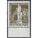 """Mi. Nr. 38 II Oberrand postfrisch, Bindestrich hinter """"WELT"""" fehlt!!"""