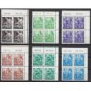 Mi. Nr. 362 - 379 Eckrandviererblock rechts oben postfrisch