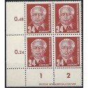 Mi. Nr. 324 va X I Eckrandviererblock links unten mit DV 1 postfrisch