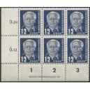 Mi. Nr. 323 za XII Eckrandsechserblock links unten mit DV 1 postfrisch
