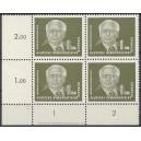 Mi. Nr. 325 v XI Eckrandviererblock links unten mit DV 1 postfrisch