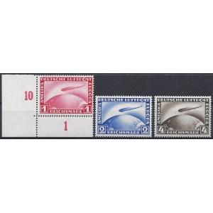 Mi. Nr. 423 - 424 Y und 455 postfrisch davon 455 im Eckrand links unten mit Fotoattest