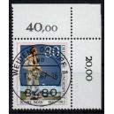 Mi. Nr. 1314 im Eckrand rechts oben KBWZ Weiden Stempel