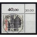 Mi. Nr. 1323 im Eckrand rechts oben KBWZ Weiden Stempel