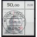 Mi. Nr. 1423 im Eckrand rechts oben KBWZ Weiden Stempel