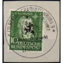 Mi. Nr. 149 zentrisch gestempelt auf Briefstück