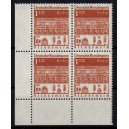 Mi. Nr. 501 Eckrandviererblock links unten postfrisch bisher unbekannte Zähnung