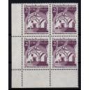 Mi. Nr. 285 Eckrandviererblock links unten postfrisch bisher unbekannte Zähnung