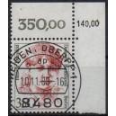 Mi. Nr. 828 Eckrand rechts oben zentrisch gestempelt